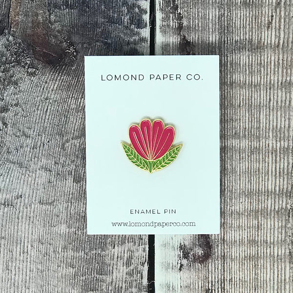 Folk Flower Enamel Pin