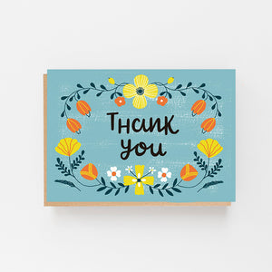 Set of 8 Thank You - Colourful Folk Design