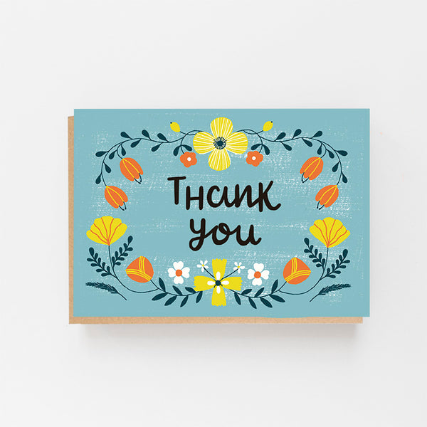 Thank You - Colourful Folk Design