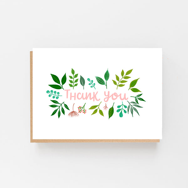 Thank You - Leaf Design