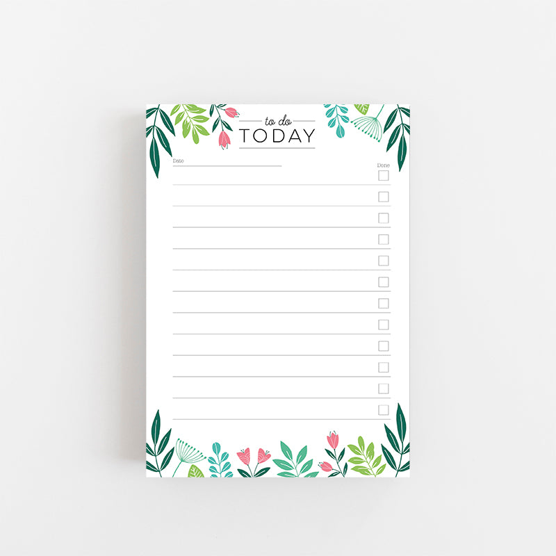 Botanical To Do Today Notepad - Lomond Paper Co.