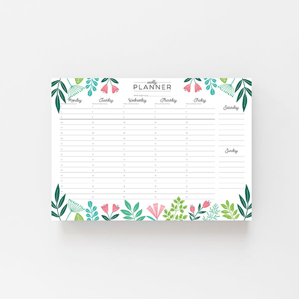 Botanical Weekly Planner - Lomond Paper Co.