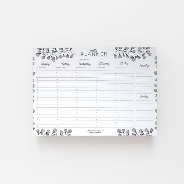 Weekly Planner - Lomond Paper Co.