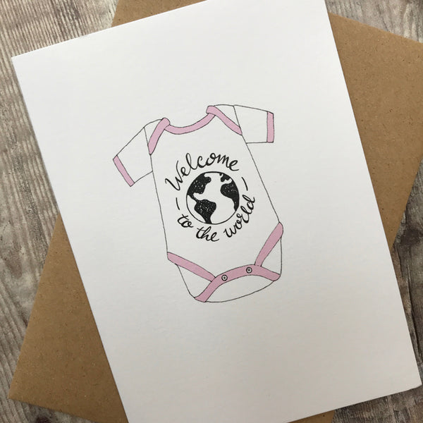 welcome to the world baby girl - lomond paper co.