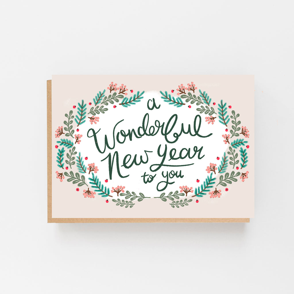 A Wonderful New Year To You Card - Lomond Paper Co.