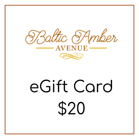 Baltic Amber Avenue eGift Card $20 - Baltic Amber Necklace