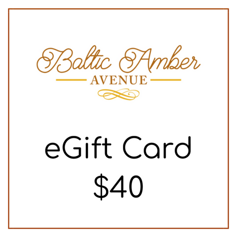 Baltic Amber Avenue eGift Card $40 - Baltic Amber Necklace