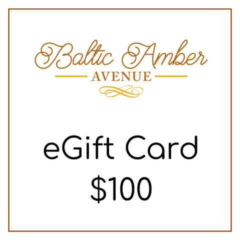 Baltic Amber Avenue eGift Card $100 - Baltic Amber Necklace