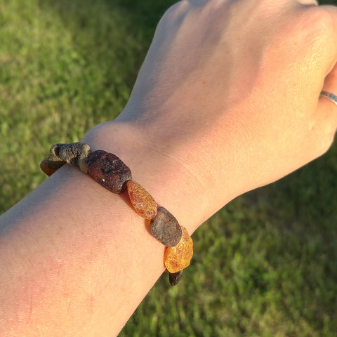 Adult Baltic Amber - Chunky Raw Bracelet - Baltic Amber Necklace