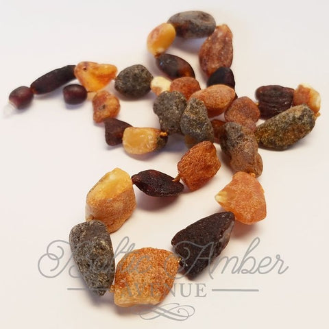Adult Raw Baltic Amber Necklace - Baltic Amber Necklace