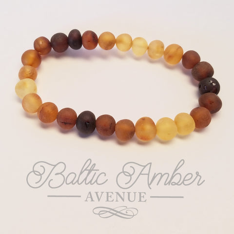 Adult Raw Baltic Amber Bracelet - Reilly - Baltic Amber Necklace