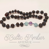 Children's Cherry Baltic Amber and Gemstones - Baltic Amber Necklace
