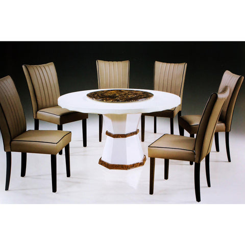 Wersace 7 Piece Marble Dining Set