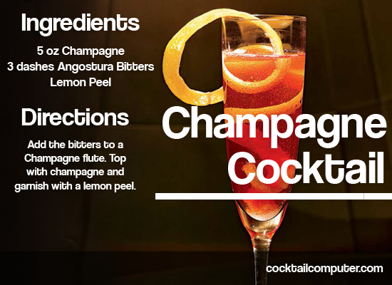 Champagne Cocktail Drink Recipe