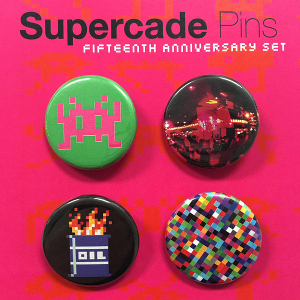 Supercade 15th Anniversary Pin Collection v.1