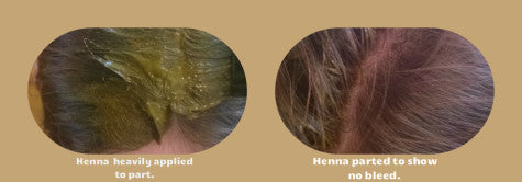 Must apply henna to every strand- it doesn't travel.
