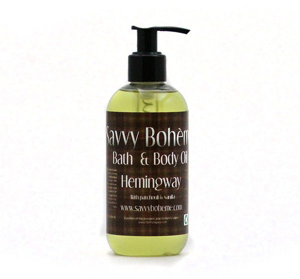Hemingway {Patchouli and Vanilla}-Bath & Body Oil