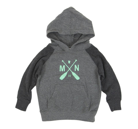 MN Paddle Hoodie Carbon/Mint