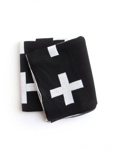 Reversible Cross Knit Blanket