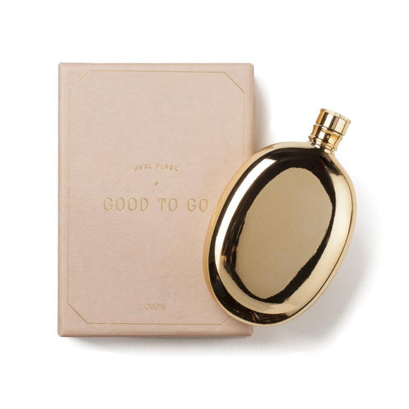 Gold Oval Flask