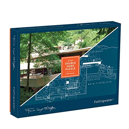 This Frank Lloyd Wright Fallingwater 2-Sided Puzzle