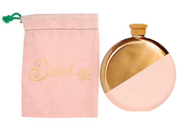 Pink & Gold Flask