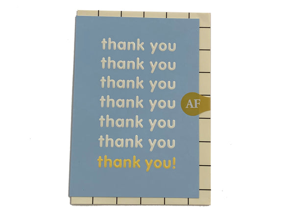 THANK YOU THANK YOU Card