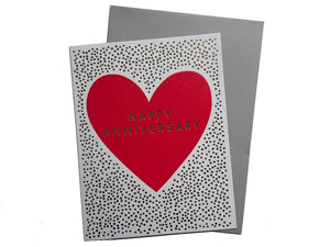Heart Happy Anniversary Card