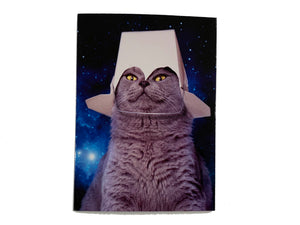 Takeout Space Cat Birthday Card
