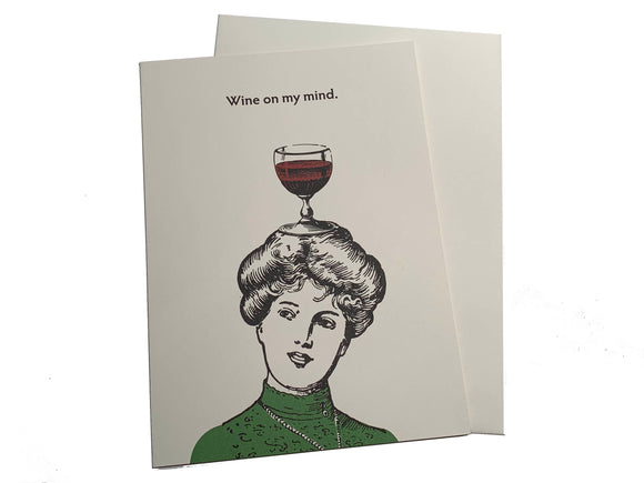 Wine On My Mind Card
