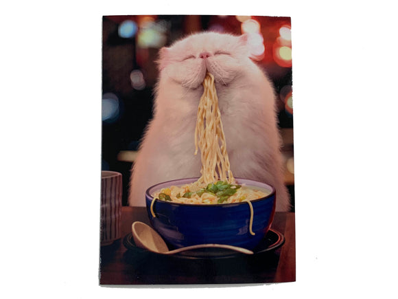 Cat Ramen Birthday Card