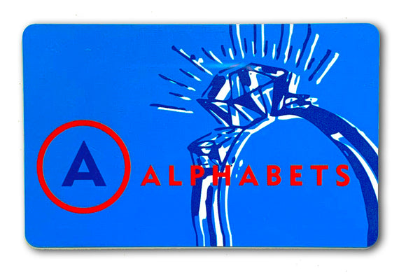 Alphabets Gift Card