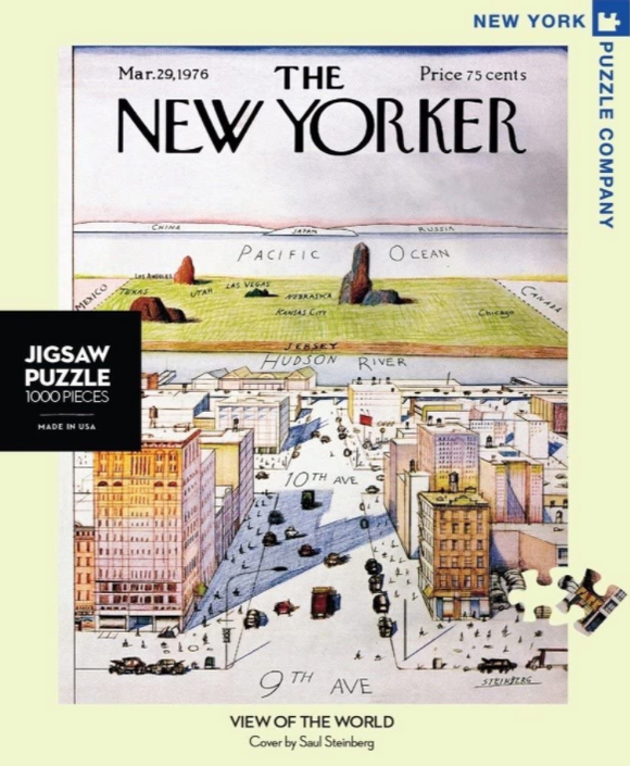 New Yorker 1000pc Puzzle: View Of The World