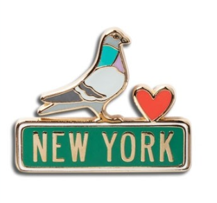 New York Pigeon Enamel Pin