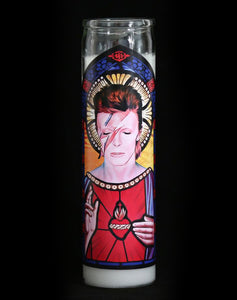 David Bowie Prayer Candle