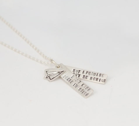 Silver David Bowie Quote Necklace