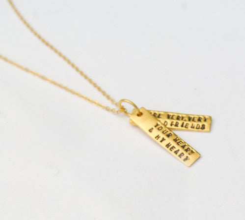 Gold Hafez Quote Necklace