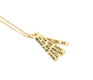 Gold Maya Angelou Quote Necklace
