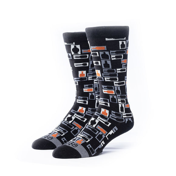 Black Retro Bourbon© Socks