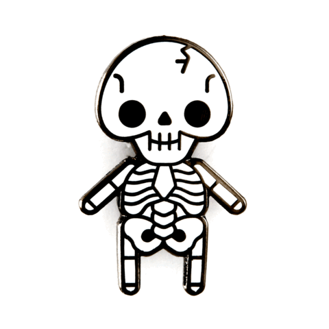 Skeleton Baby Enamel Pin