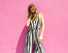 LANI SOUL BOUTIQUE BOWIE STRIPE JUMPSUIT