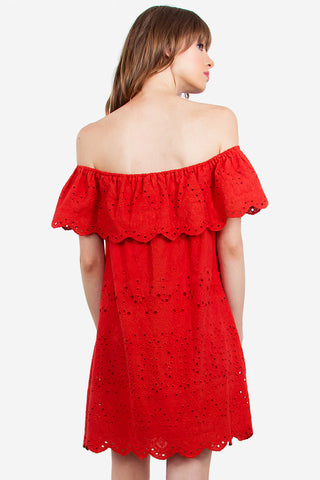 ALEGRE OFF THE SHOULDER DRESS