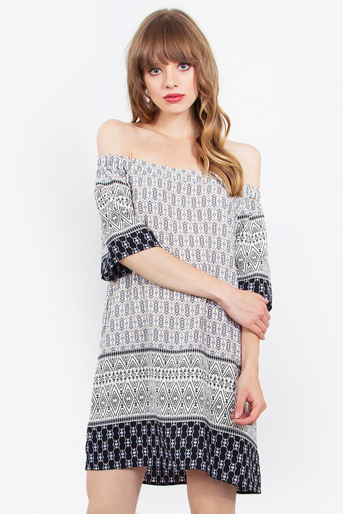 CLEMENTINE OFF THE SHOULDER DRESS