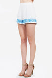 AGACI EMBROIDERED SHORTS