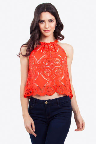 CENTER STAGE CROCHET TOP