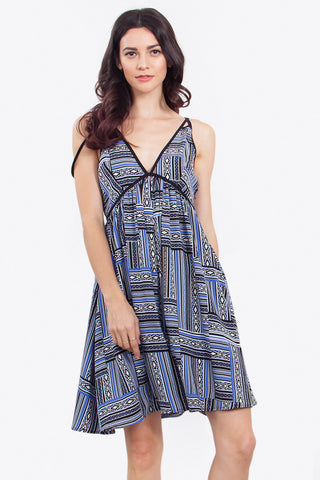 ALLIE AZTEC MIDI DRESS