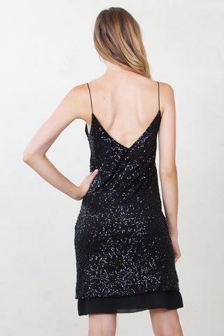 LONG WALK SEQUIN DRESS
