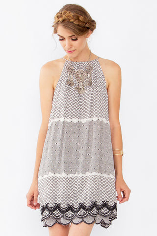 MARIANA EMBROIDERED DRESS