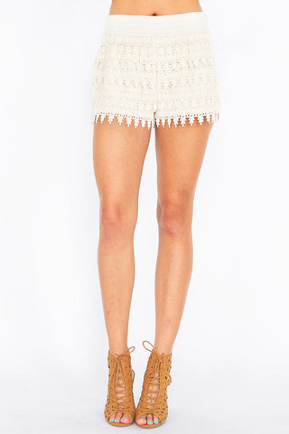 CARRIBEAN CROCHET SHORTS