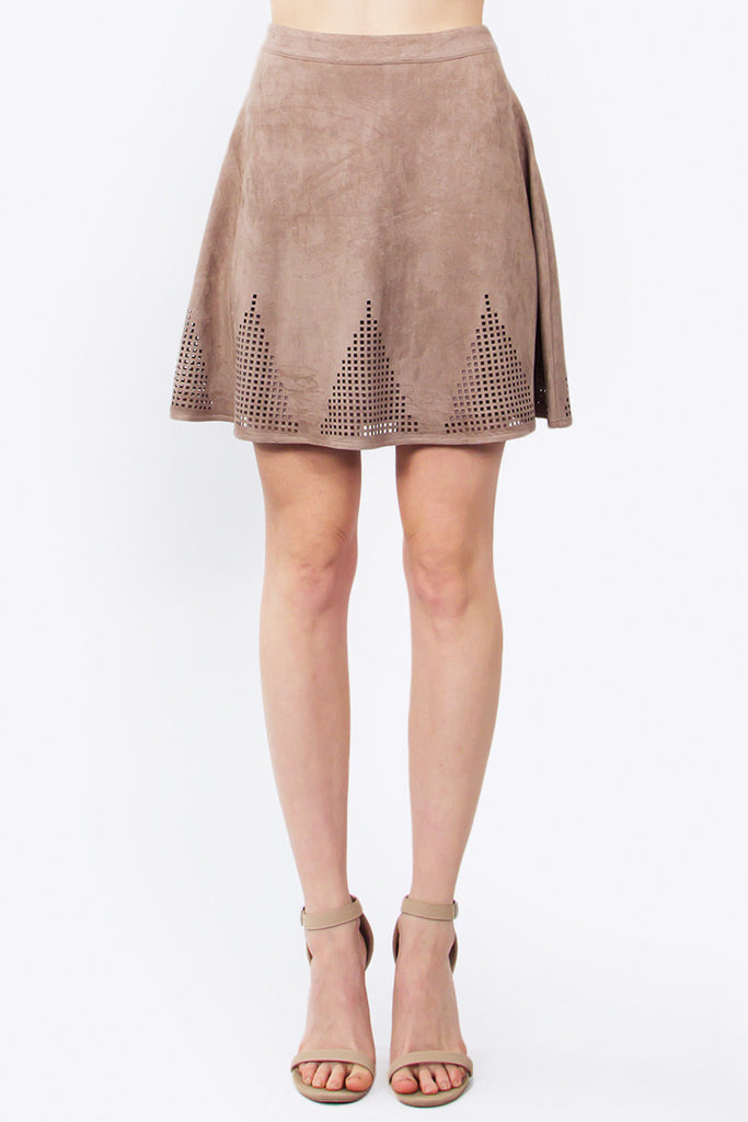 JANICE SUEDE SKIRT